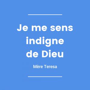 Sous le poids de mes erreurs - Mère Teresa