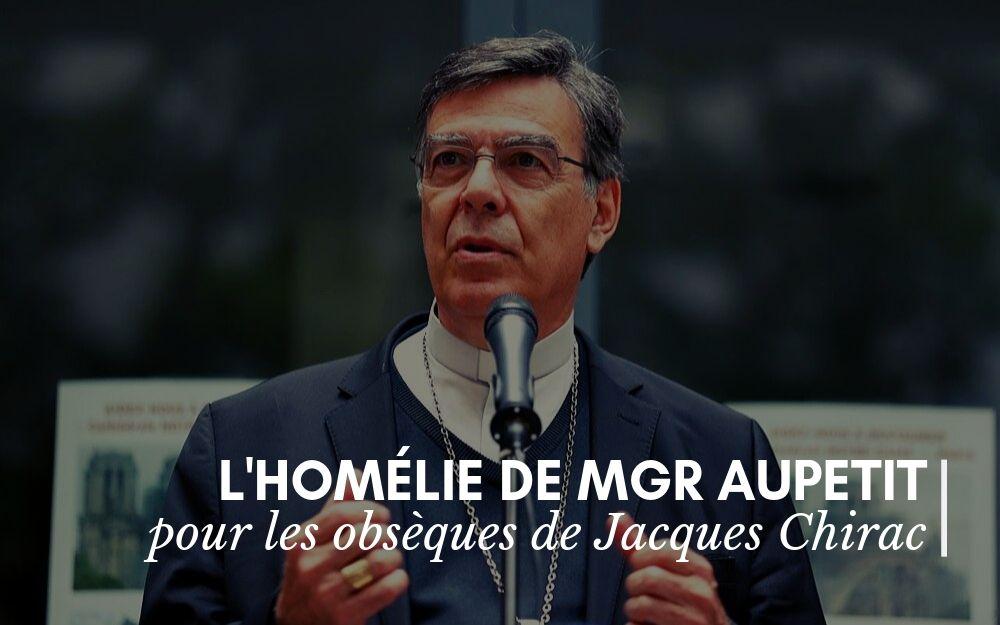 Monseigneur Aupetit et Jacques Chirac