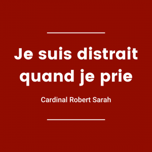 Je suis distrait quand je prie - Cardinal Robert Sarah